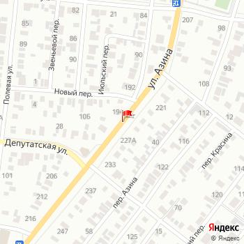 г. Ижевск, ул. Азина, на карта