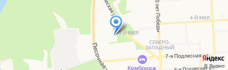 Спорткомплекс на карте Ижевска