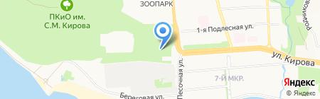 Ель на карте Ижевска