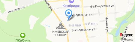 На Песочной на карте Ижевска