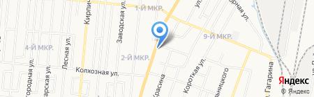 Трасса 77 на карте Ижевска