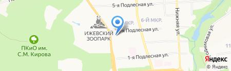 Сторожевой на карте Ижевска