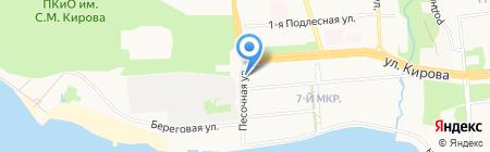 Песочная-3 на карте Ижевска