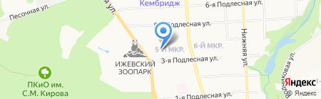 Детский сад №71 на карте Ижевска