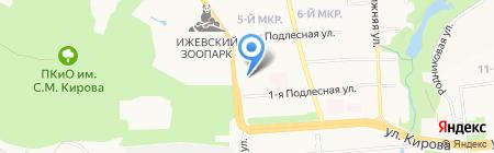 Сектор гражданской защиты Октябрьского района г. Ижевска на карте Ижевска