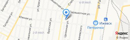 Вечерняя сменная общеобразовательная школа №12 на карте Ижевска