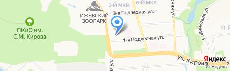 Управление Федеральной службы государственной регистрации на карте Ижевска