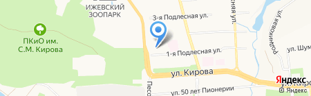 Бревиус на карте Ижевска