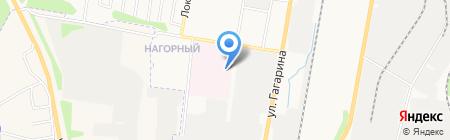 Отделенческая больница на станции Ижевск на карте Ижевска