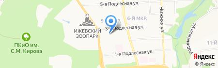 Детский сад №121 на карте Ижевска