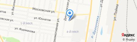 Московский на карте Ижевска