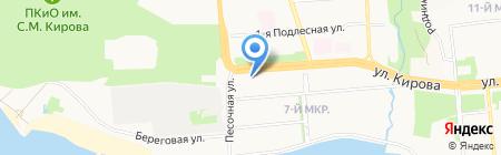 Киоск по продаже фруктов и овощей на карте Ижевска