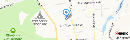 Детский сад №190 на карте Ижевска