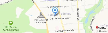Управление по обеспечению деятельности мировых судей по Удмуртской Республике на карте Ижевска