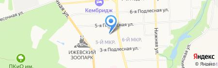 Калан на карте Ижевска