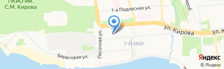 Октябрьский районный отдел судебных приставов на карте Ижевска