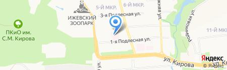 Детская городская поликлиника №9 на карте Ижевска
