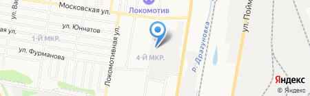 Стриж на карте Ижевска