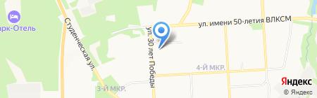 Милания на карте Ижевска