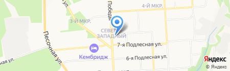 Техносити на карте Ижевска