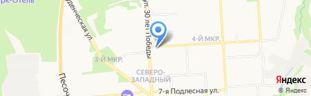 Шиномонтажная мастерская на ул. 9 Подлесная на карте Ижевска