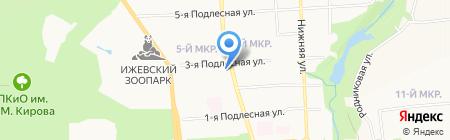 Район электрических сетей №1 на карте Ижевска