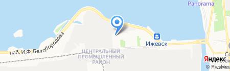 Ижевская ТЭЦ-1 на карте Ижевска