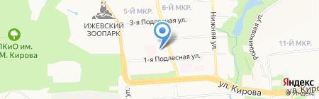 Детский сад №161 на карте Ижевска