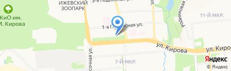 Рай-Я на карте Ижевска