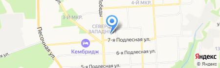 Цветочный городок на карте Ижевска