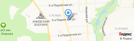 Артель на карте Ижевска