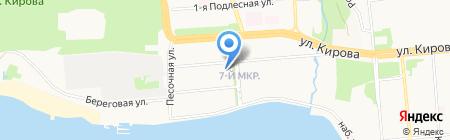 Городская больница №10 на карте Ижевска