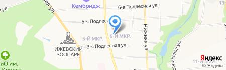 Центр занятости населения Октябрьского района на карте Ижевска