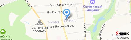 Зима на карте Ижевска