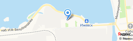 Удмуртия на карте Ижевска