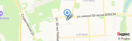 Ательера на карте Ижевска