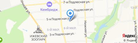 Пур-Пур на карте Ижевска