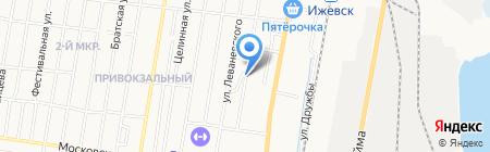 Сит на карте Ижевска