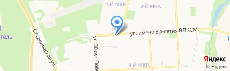 Ижмолоко на карте Ижевска