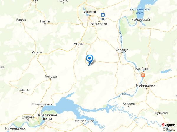 деревня Санниково на карте