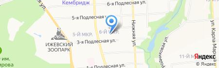 Центр дошкольного образования и воспитания Октябрьского района на карте Ижевска