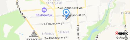 Дом детского творчества Октябрьского района на карте Ижевска