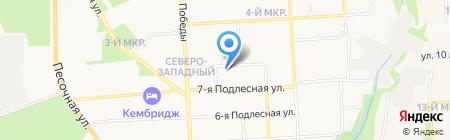 Арбат на карте Ижевска