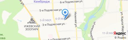 Анкилл на карте Ижевска
