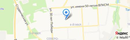 Черный тюльпан на карте Ижевска