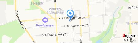 Баня №7 на карте Ижевска