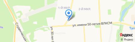 Киоск по продаже лотерейных билетов на карте Ижевска