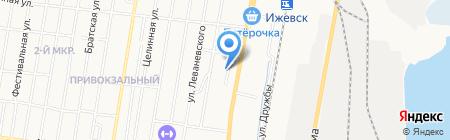 Калипсо на карте Ижевска