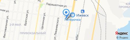 Нарцисс на карте Ижевска