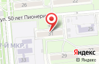 Схема проезда до компании Про 100 в Ижевске